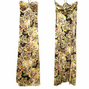 5/$25 🌻 LOVE, FIRE Floral Halter Strap Maxi Dress